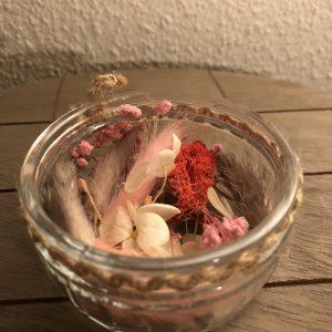 Droogbloem Bakje Roze