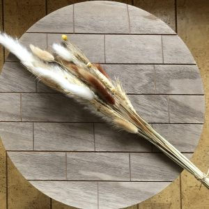 White Striped - Droogbloemen boeket